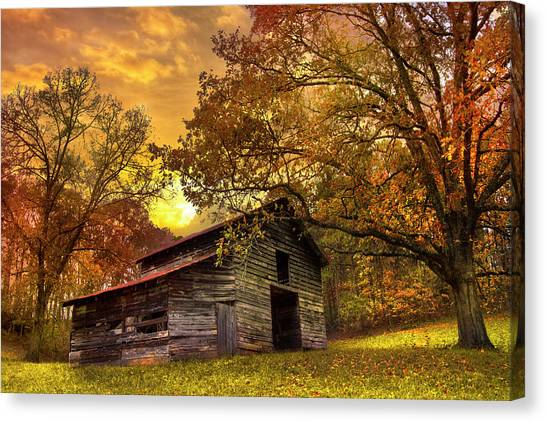 Tn Canvas Print - Chill Of An Early Fall by Debra and Dave Vanderlaan