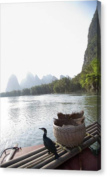 China, Guilin, Lijang River, Trained Canvas Print