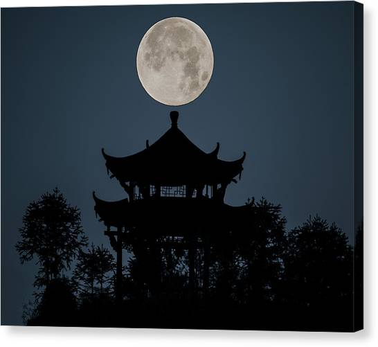 Canvas Print featuring the photograph China Moon by William Dickman