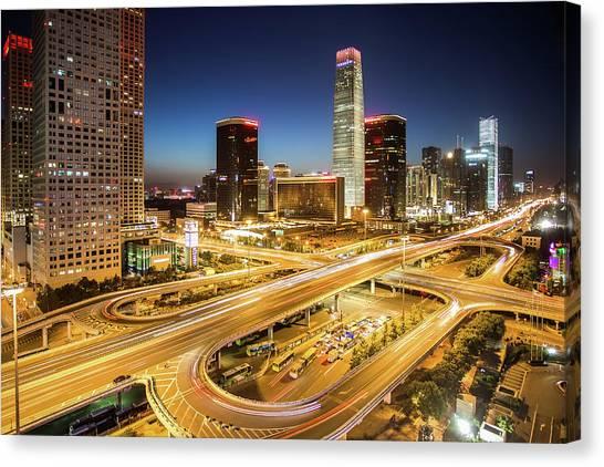China World Trade Center Canvas Print by Dukai Photographer