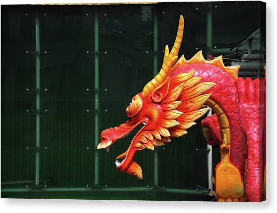 Chinese New Year Canvas Print - Chinese Dragon by Raj's Photography