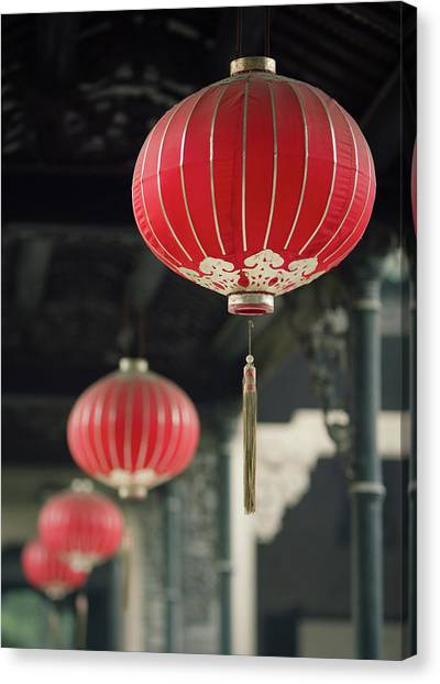 Chinese New Year Canvas Print - Chinese Lanterns by Dave Bowman