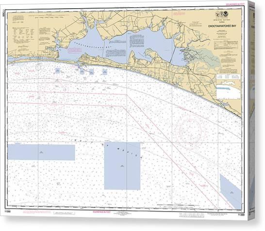 Choctawhatchee Bay Noaa Chart 11388 Canvas Print