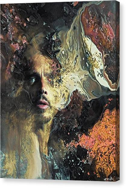 Chris Cornell - Can't Change Me Canvas Print by Bobby Zeik