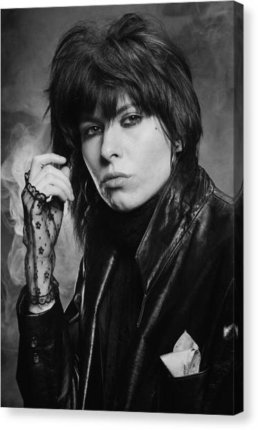 Chrissie Hynde Canvas Print by Fin Costello
