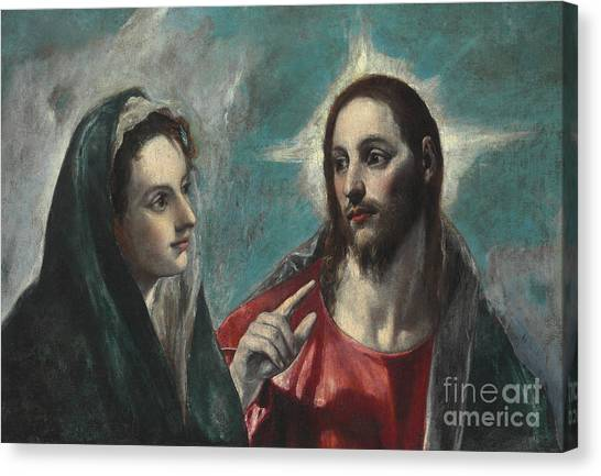 Messiah Canvas Print - Christ Taking Leave Of His Mother by El Greco