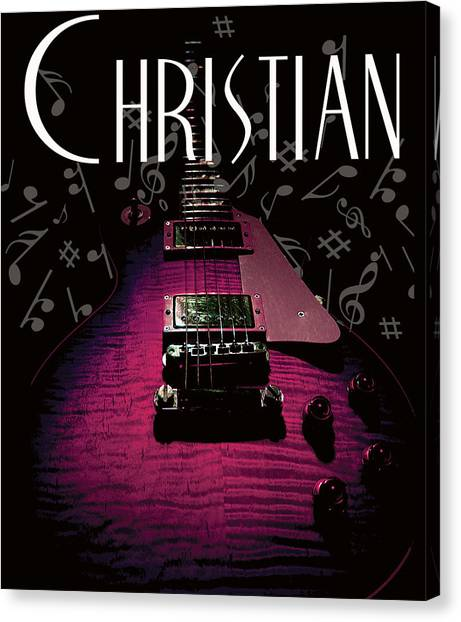 Christian Music Guita Canvas Print