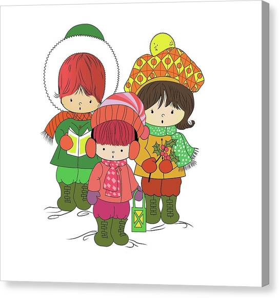 Christmas Angels Canvas Print