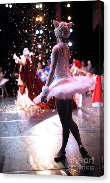 Style Canvas Print - Christmas Ballet Performance by Anna Jurkovska