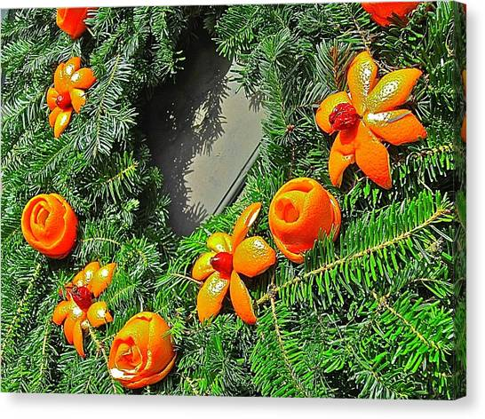 Canvas Print featuring the photograph Christmas Citrus by Don Moore