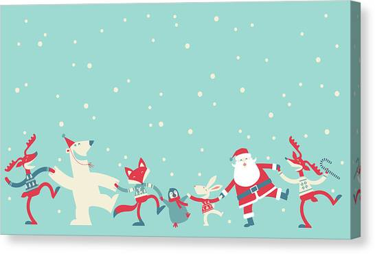 Christmas Dancing Canvas Print by Akindo
