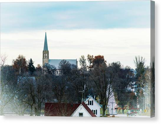 Canvas Print featuring the photograph Christmas Day Drive by Edward Peterson