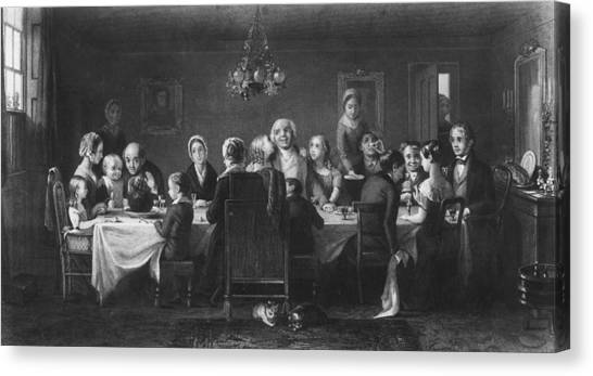 Christmas Dinner Canvas Print by Hulton Archive