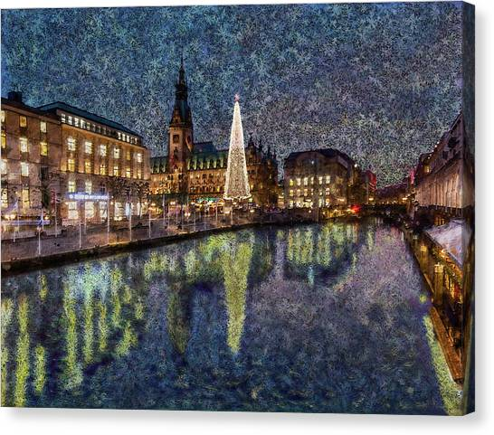 Christmas Hamburg Canvas Print