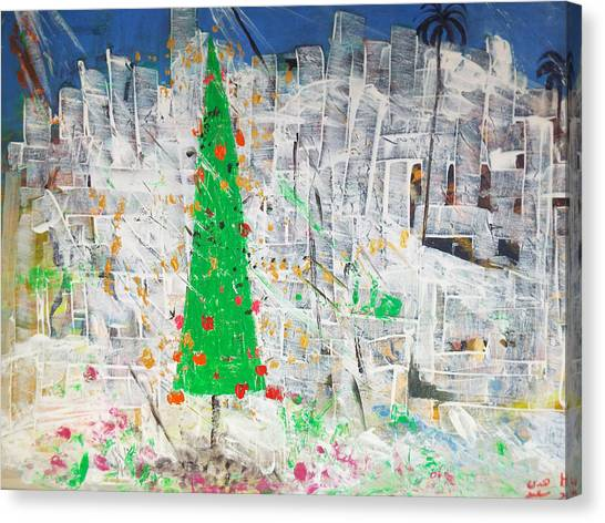 Christmas In Town Canvas Print