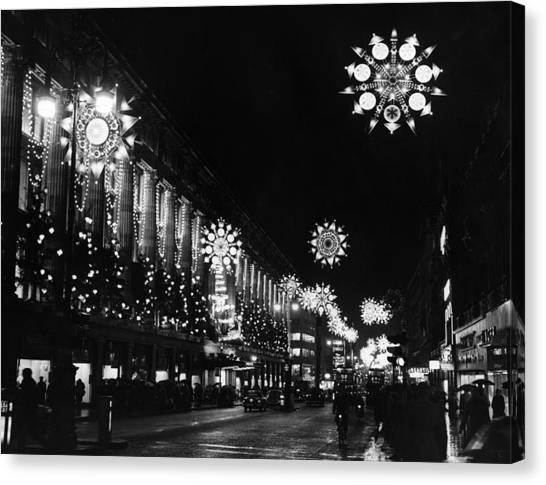 Christmas Lights Canvas Print by William Vanderson