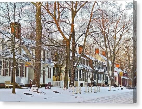 Canvas Print featuring the photograph Christmas Snow by Don Moore