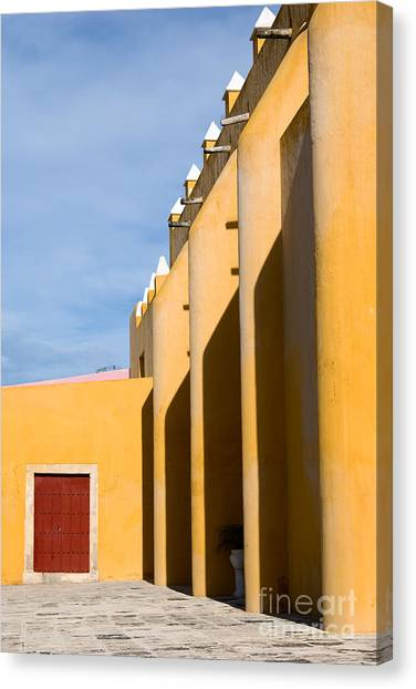 Church Canvas Print - Church In Mexico by Lebedev