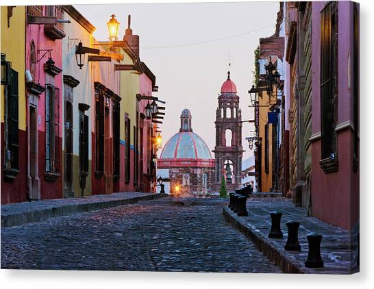 San Miguel De Allende Canvas Print - Church Of San Francisco, Looking Up by Jeremy Woodhouse