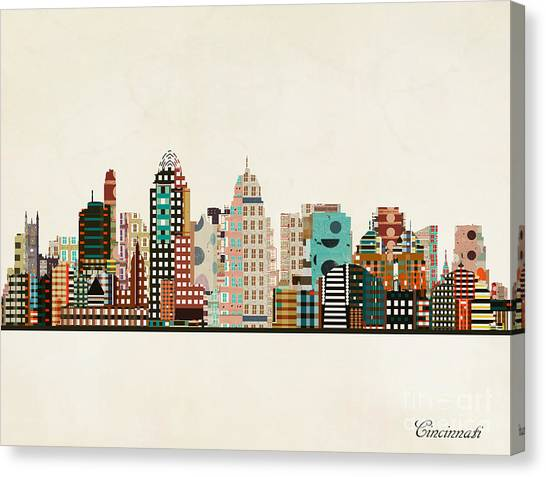 Cincinnati Ohio Skyline Canvas Print by Bri Buckley