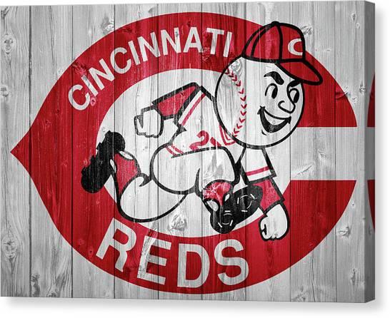 Cincinnati Reds Canvas Print - Cincinnati Reds Barn Door by Dan Sproul
