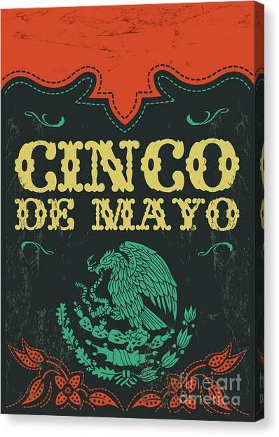 Mexico Canvas Print - Cinco De Mayo - Mexican Holiday Vintage by Julio Aldana