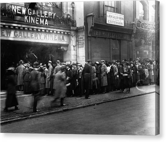 Cinema Crowd Canvas Print by A. R. Coster