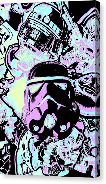 Neon Canvas Print - Cinematic Sci-fi by Jorgo Photography - Wall Art Gallery
