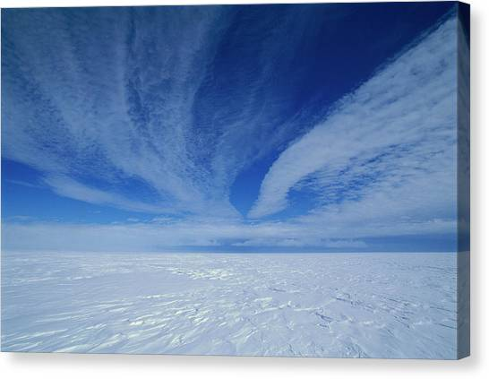 Cirrus Clouds Above Icy Plateau Canvas Print by Grant Dixon/ Hedgehog House/ Minden Pictures