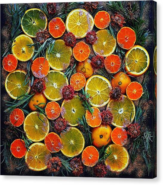 Citrus Time Canvas Print