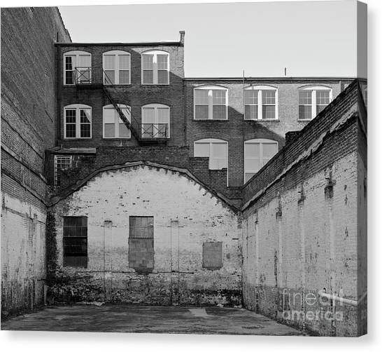 Canvas Print featuring the photograph City Courtyard by Patrick M Lynch