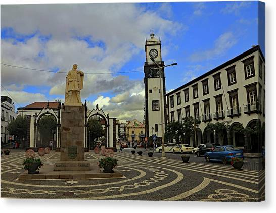 Canvas Print featuring the photograph City Gate  by Tony Murtagh