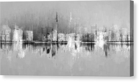 City In Black Canvas Print
