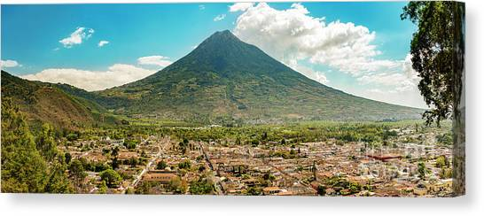 Canvas Print featuring the photograph City Of Antigua Guatemala by Tim Hester