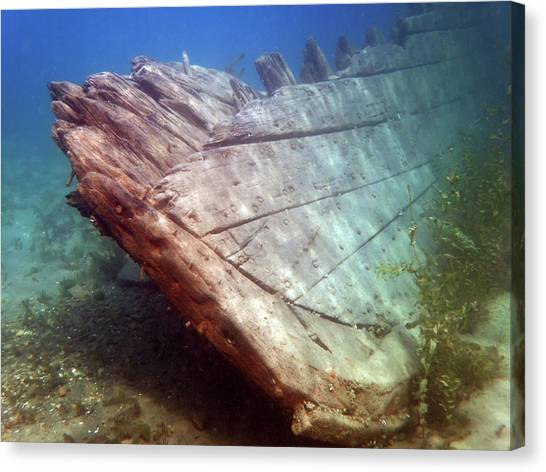 City Of Grand Rapids Shipwreck Ontario Canada 8081801c Canvas Print