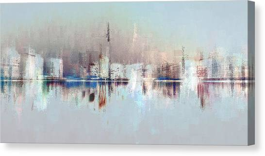 City Of Pastels Canvas Print