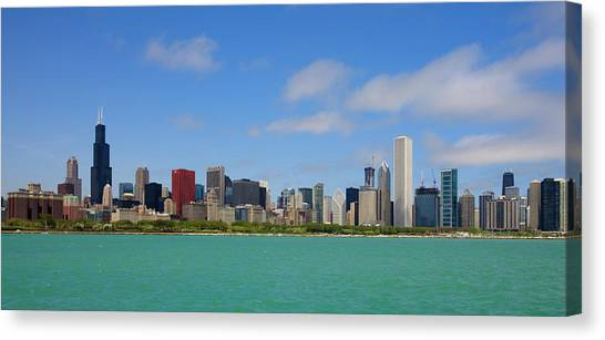 City Skyline, Chicago, Illinois, Usa Canvas Print