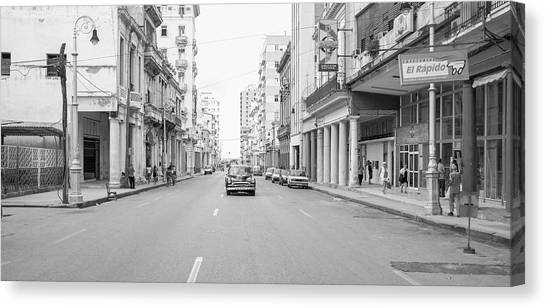 City Street, Havana Canvas Print