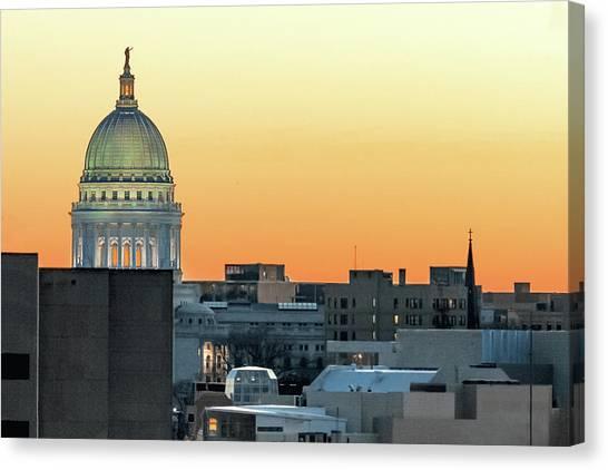 Capitol Building Canvas Print - City Surrounds It by Todd Klassy