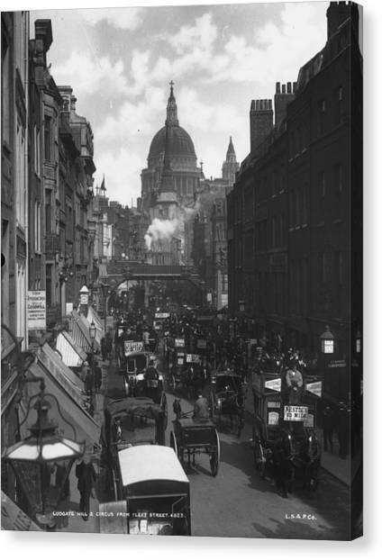 City Traffic Canvas Print by London Stereoscopic Company
