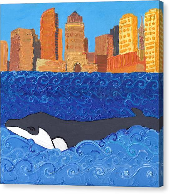 City Whale Canvas Print