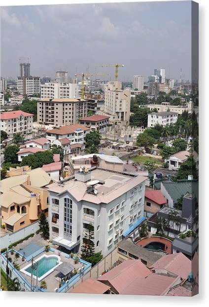 Cityscapes Of Lagos, Nigeria Canvas Print by Christopher Koehler