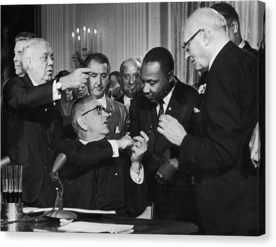 Nobel Canvas Print - Civil Rights Bill by Hulton Archive