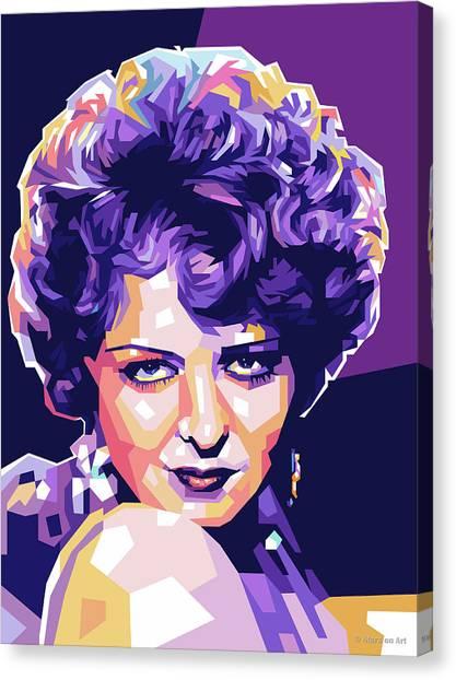 Clara Bow Pop Art Canvas Print