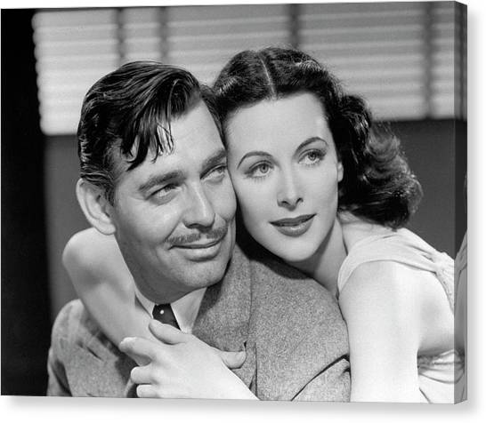 Clark Gable And Hedy Lamarr Canvas Print