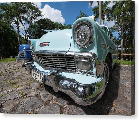 Classic Cuban Chevy Canvas Print