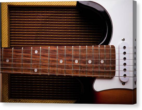 Classic Electric Guitar And Amp Still Canvas Print