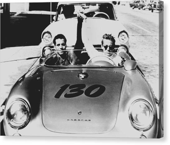 Classic James Dean Porsche Photo Canvas Print