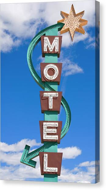 Classic Motel Sign Canvas Print