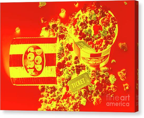 Popcorn Canvas Print - Classic Splashback by Jorgo Photography - Wall Art Gallery